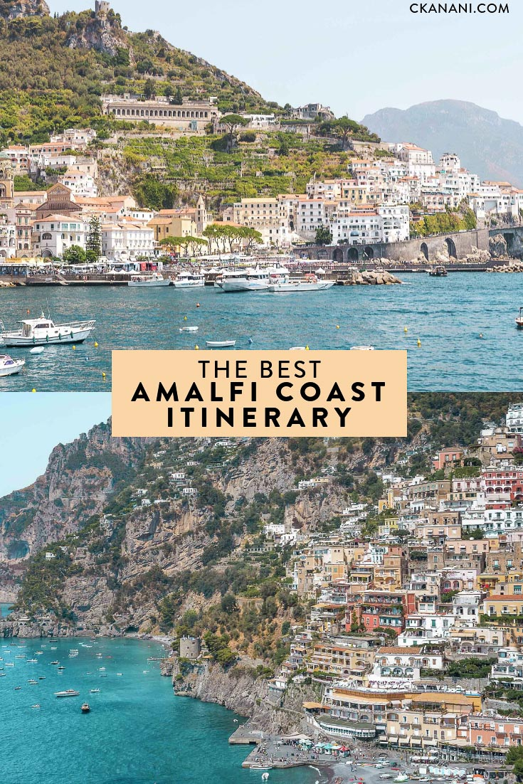The best Amalfi Coast itinerary. A thorough travel guide for 3 to 5 days in Positano and the surrounding towns. Small town travel at it's most beautiful! #italy #amalficoast #travel #smalltowntravel