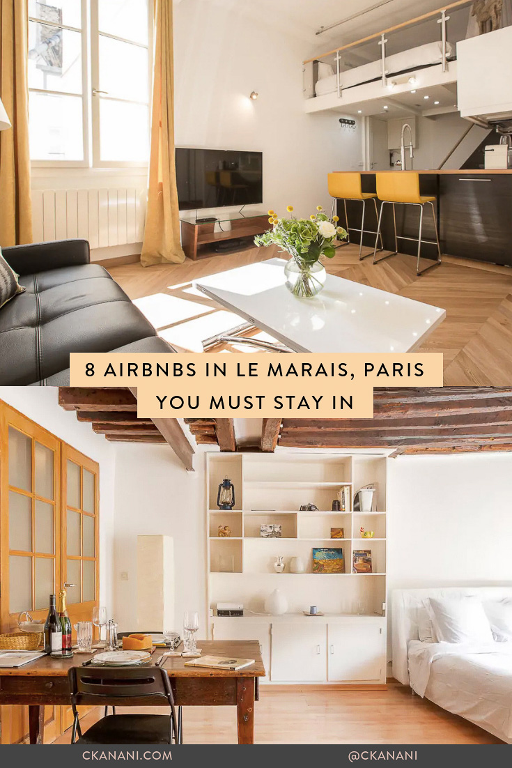 Heading to Paris and looking for a place to stay? Here are some of the best Airbnbs in the charming neighborhood of Le Marais! #paris #lemarais #marais #airbnb #travel