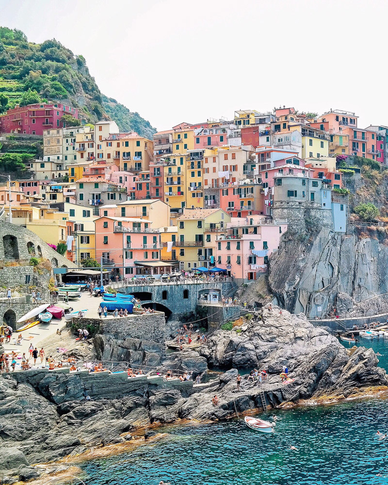 Manarola — while most people find Vernazza to be the most beautiful, I found Manarola to be breathtaking