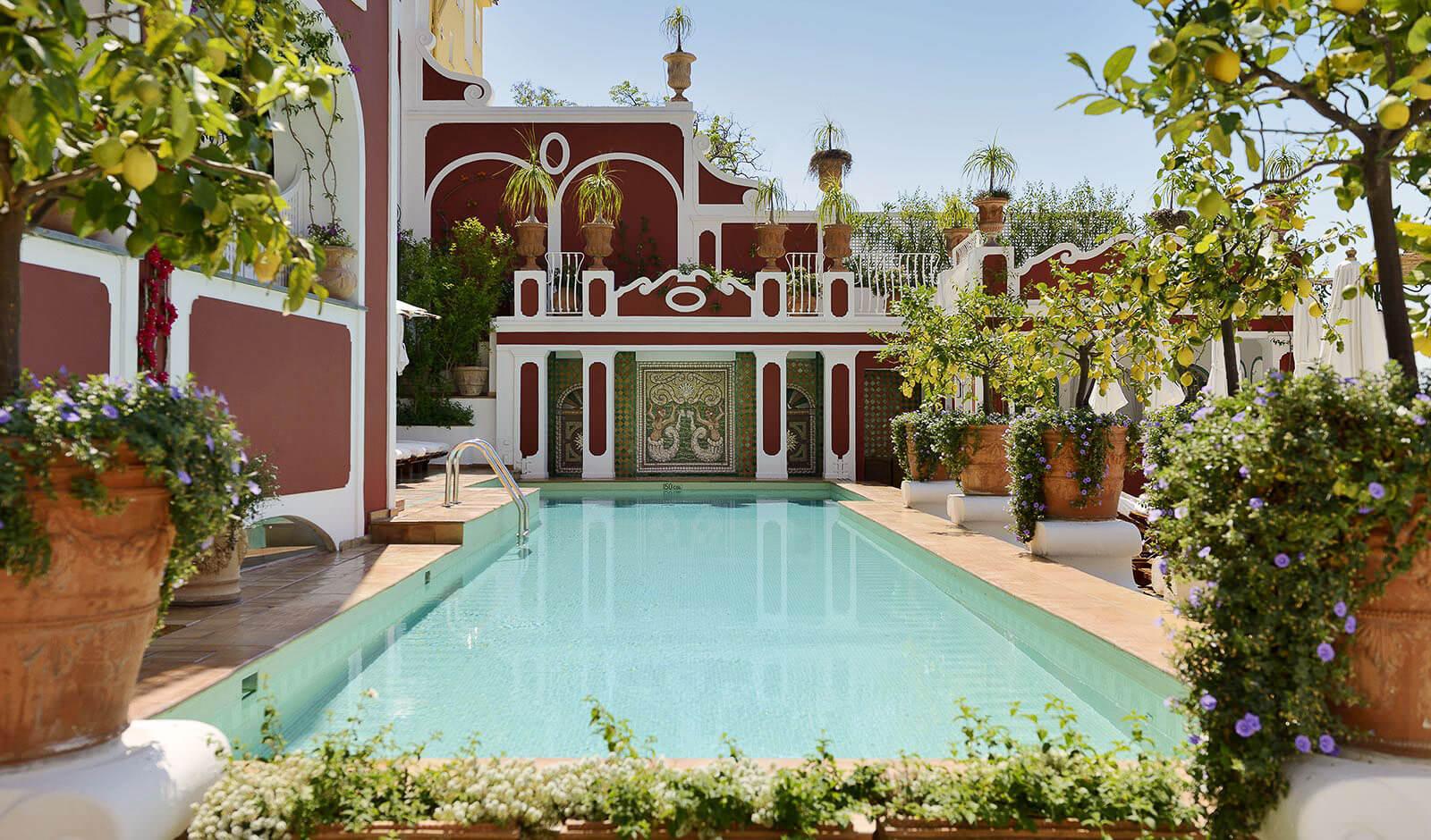 My favorite of all Amalfi Coast luxury hotels, the iconic Le Sirenuse