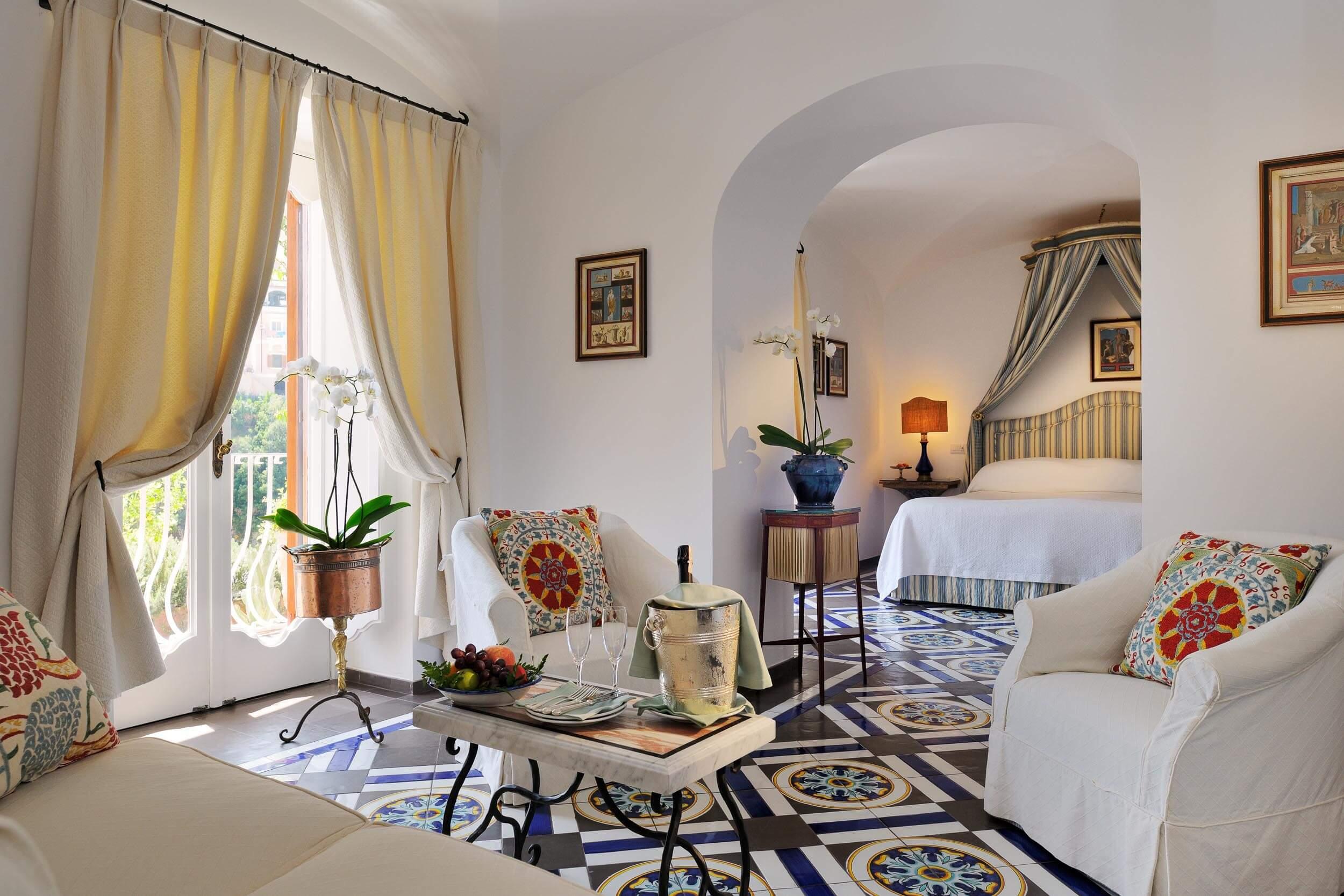 A room at Le Sirenuse in Positano Italy