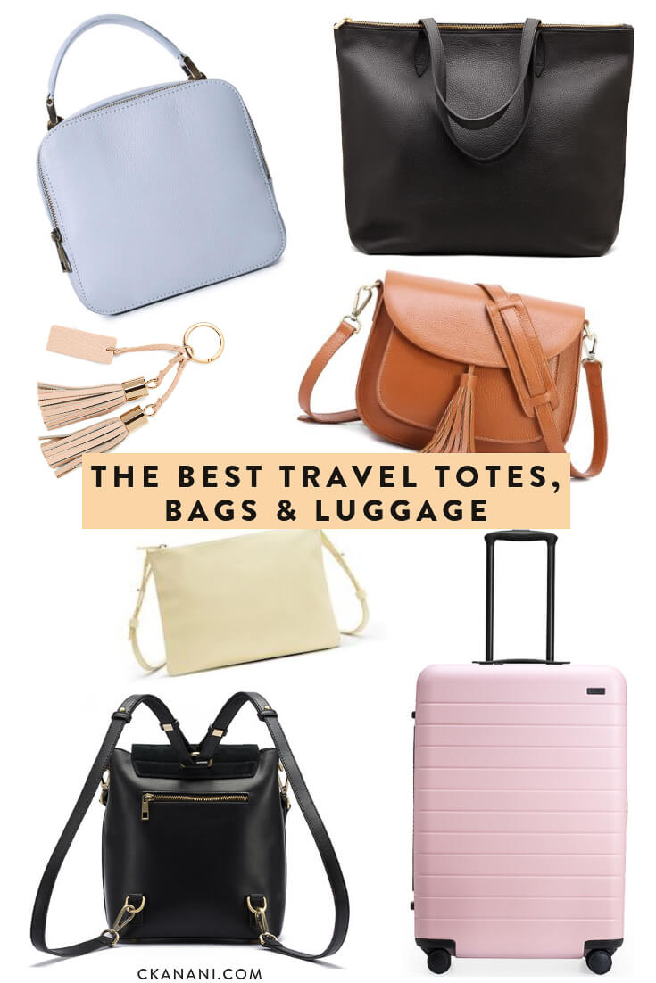 A guide to the best travel totes, bags, and luggage. The most functional, durable, fashionable, and even multi-purpose options. #luggage #travel #totes #travelbags #traveltips