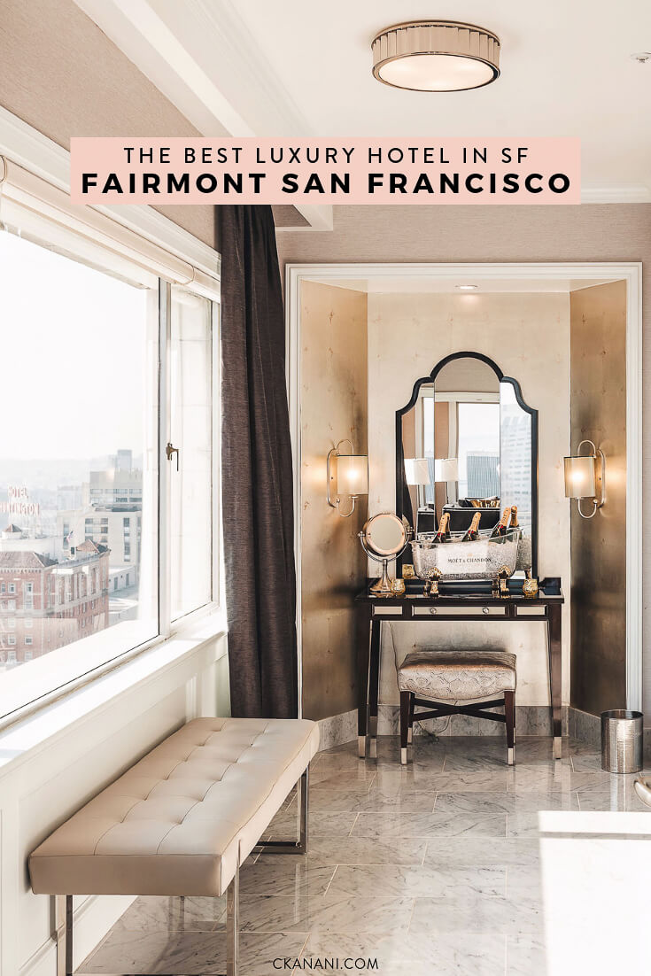 Famous hotels in San Francisco: The Fairmont! Centrally located and the best hotel in SF.  #sanfrancisco #sf #bayarea #luxuryhotels #fairmontmoments