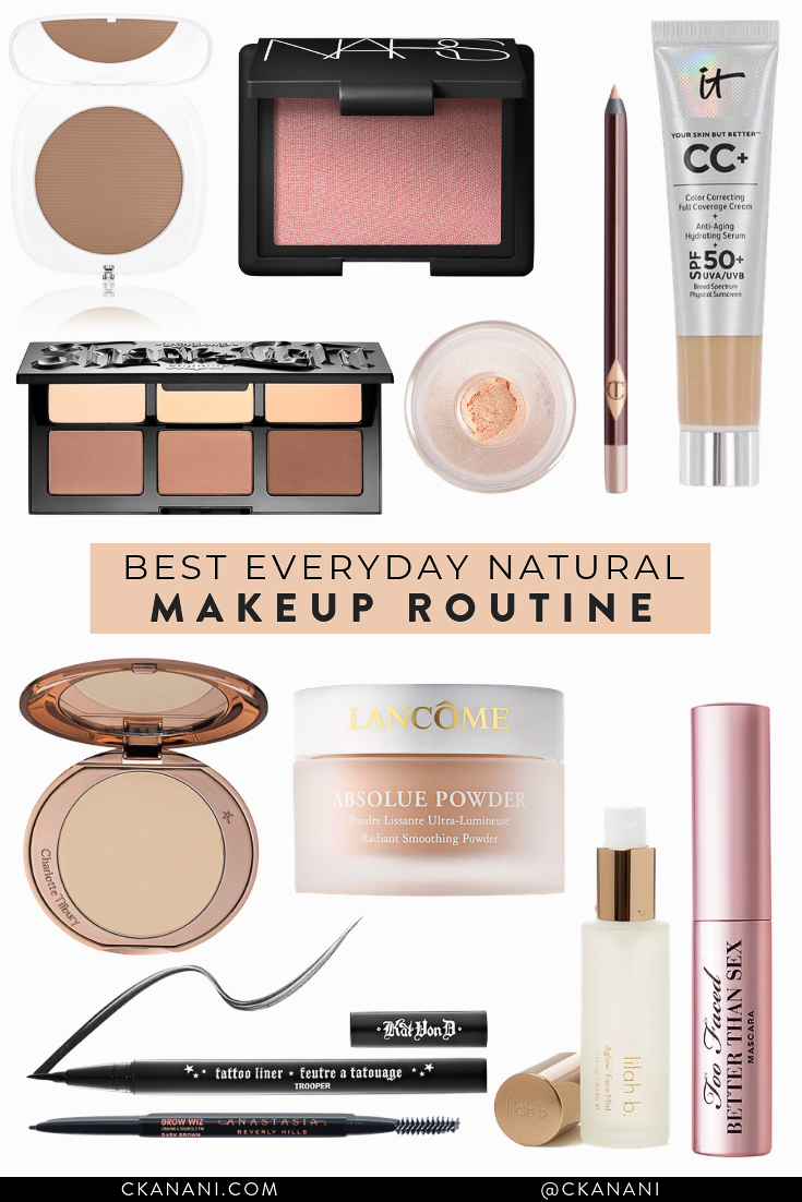The best natural everyday makeup routine. Quick and easy! #beauty #beautytips #makeup #makeuproutine #makeuptips #travelbeauty