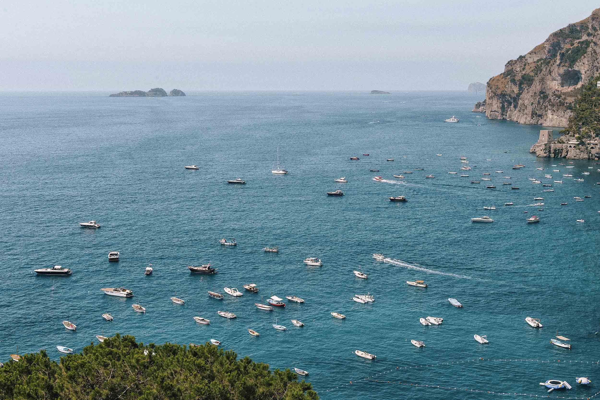 Beautiful sea views in Positano