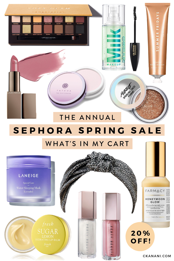 The Beauty Insider Spring Sephora Sale - what's in my cart. All of the best new beauty items I'll be buying during the Sephora sale. Everything up to 20% off! #beauty #skincare #ltkbeauty #sephora