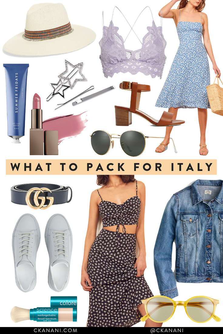 Looking for an Italy packing list or wondering what to pack for Italy? Here's a full list of what to wear in Italy! #italy #packing #packinglist #packingtips #traveltips #europe