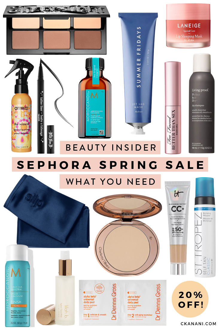 Beauty Insider Spring Sephora Sale - everything you need to buy! My top makeup, skincare, and haircare recommendations. All up to 20% off. #sephora #ltkbeauty #beauty #skincare