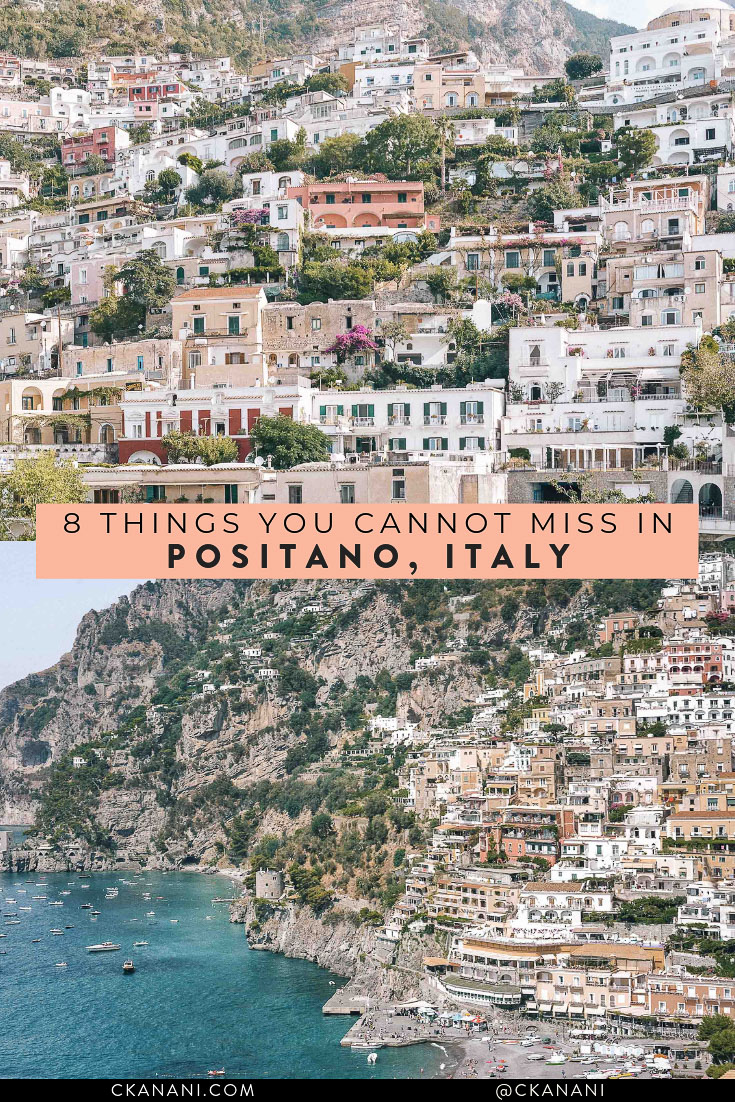 Looking for things to do in Positano Italy? Here are the 8 things you cannot miss when visiting! The best things to see, do, eat, and drink (according to locals!). #amalficoast #positano #travelguide