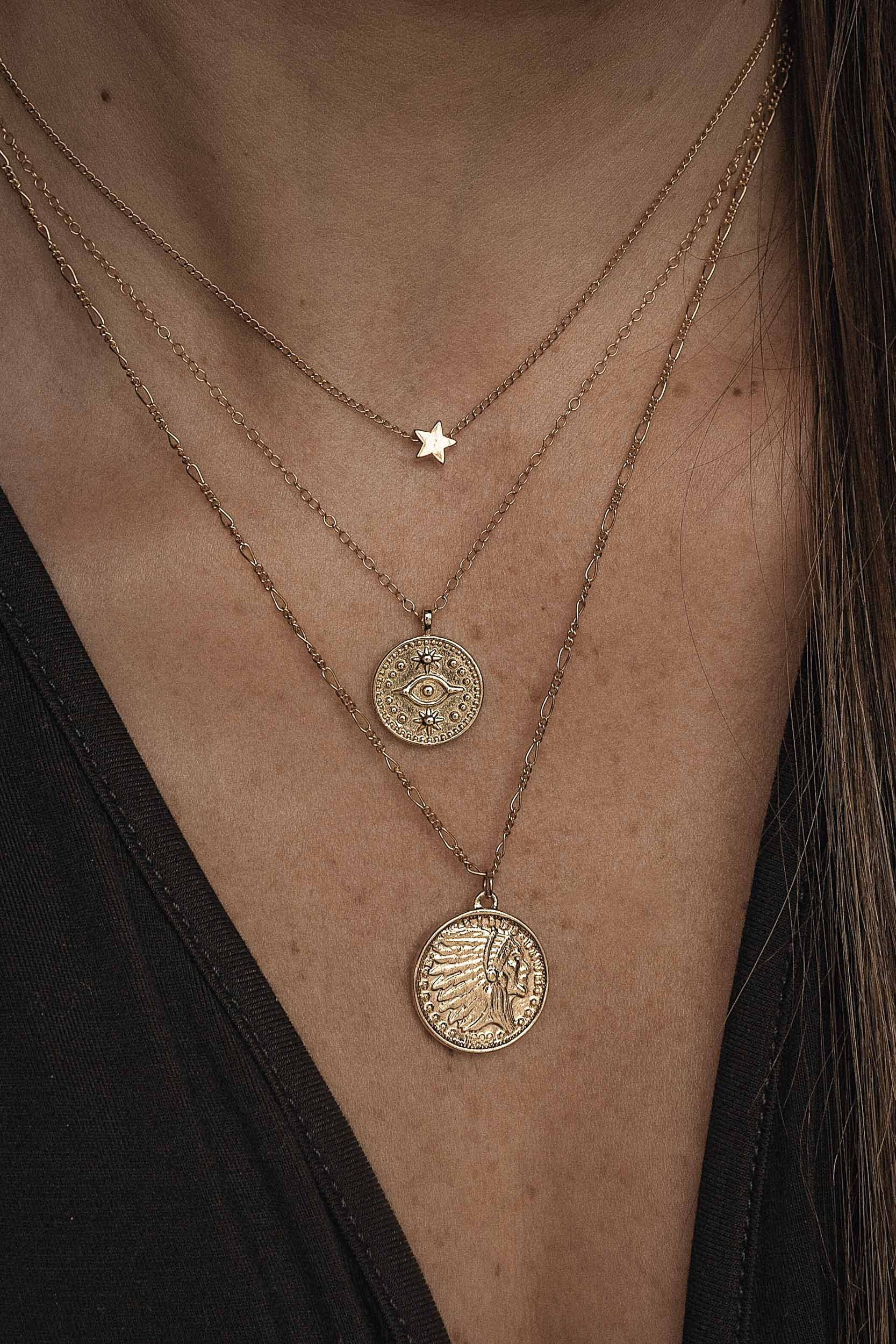 Handcrafted fine jewelry by @ckanani. Gold coin necklace. Travel jewelry. #wanderlust #goldjewelry #goldnecklace #necklace #jewelrynecklaces #giftforher #giftideas #miminalistjewelry #layerednecklace