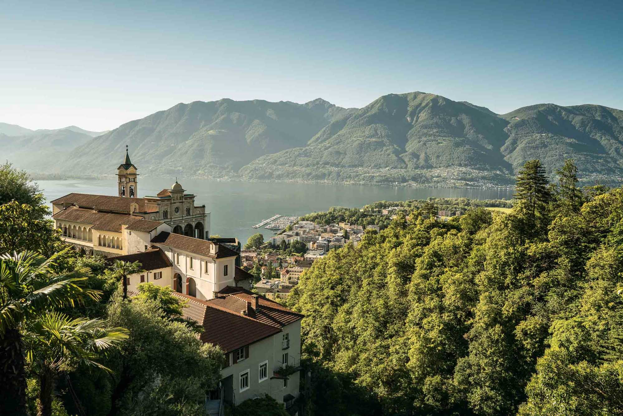 Madonna del Sasso overlooking Locarno and Lake Maggiore, Orselina. Copyright by: Switzerland Tourism