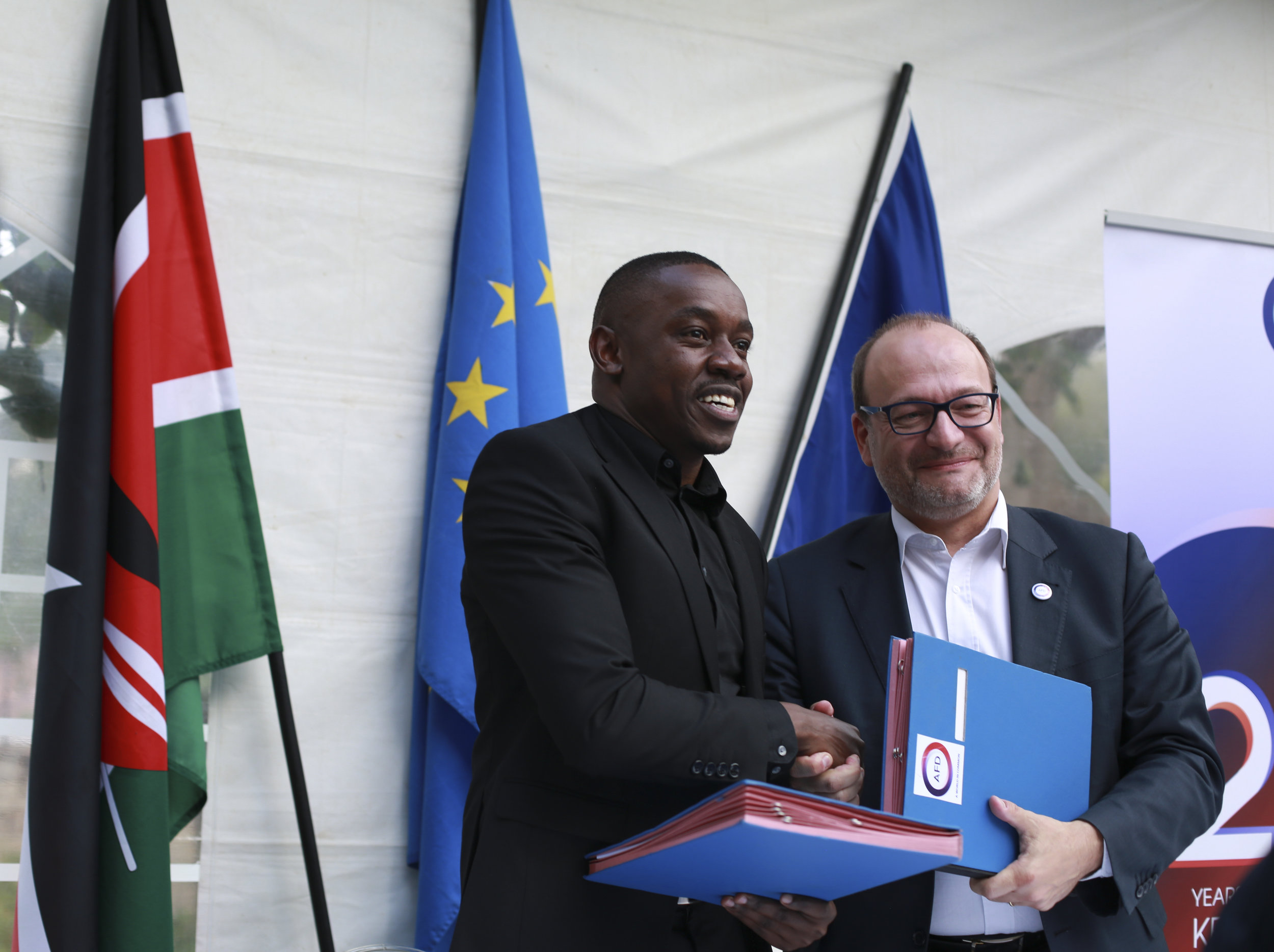 HEVA Managing Partner George Gachara and AFD's Chief Executive Officer Mr Rémy Rioux