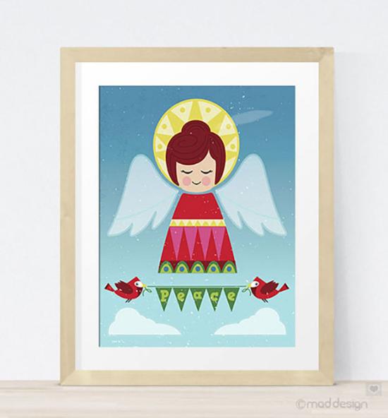 Fun new Peace Angel art print