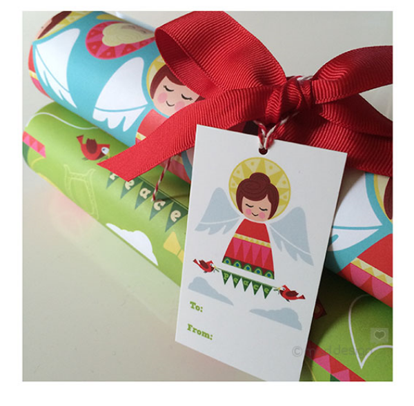 New Peace Angel gift wrap sheets and gift tags
