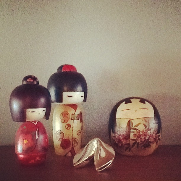 A few kokeshi dolls from my collection