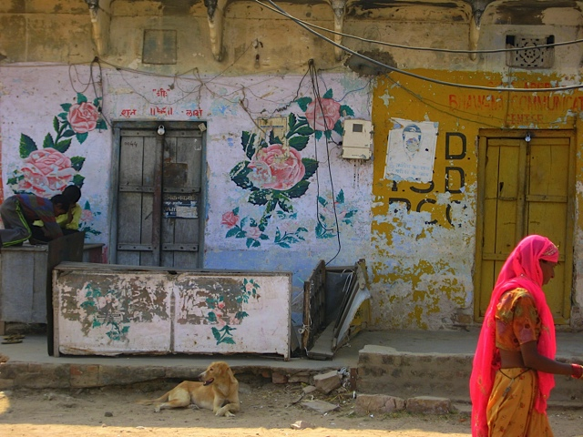Beautiful colors and textures in New Delhi.