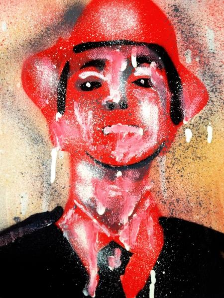 Spray Paint on Canvas.