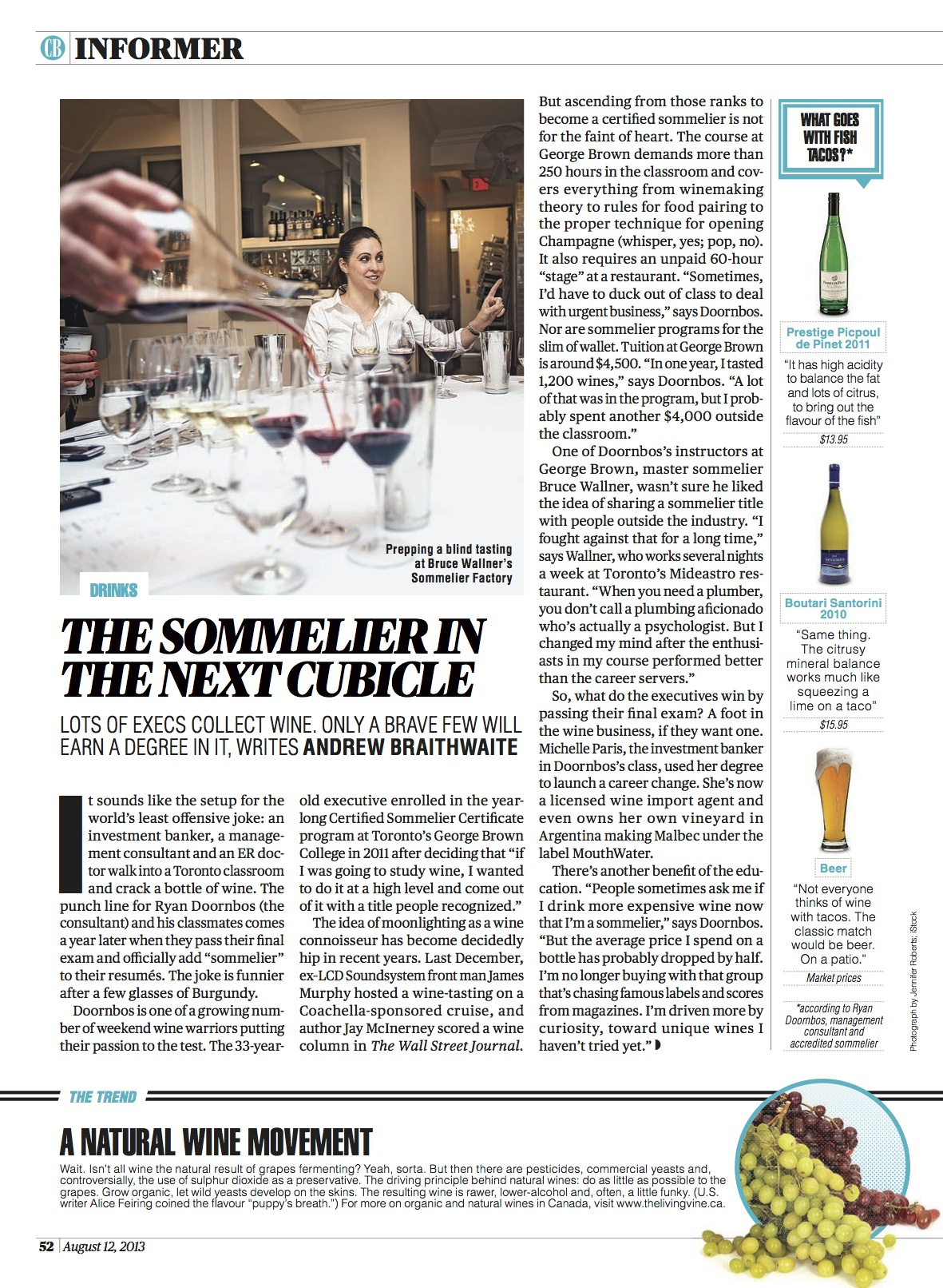 The Sommelier in the Next Cubicle  //  Canadian Business  //  2013  //  web