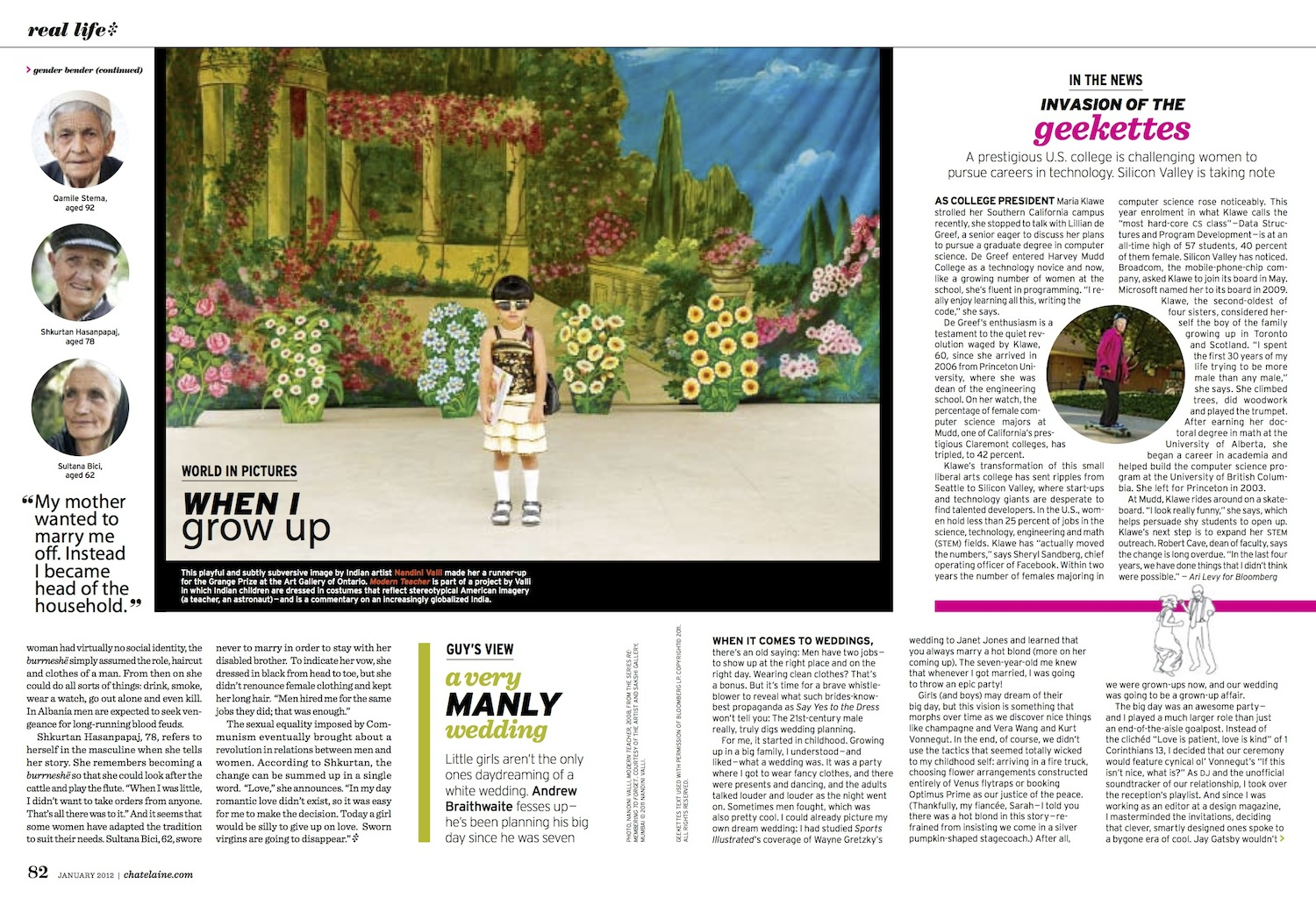A Very Manly Wedding // Chatelaine // 2012 // web