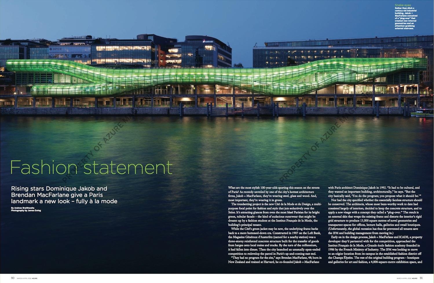 Fashion Statement // Azure // 2010 // pdf