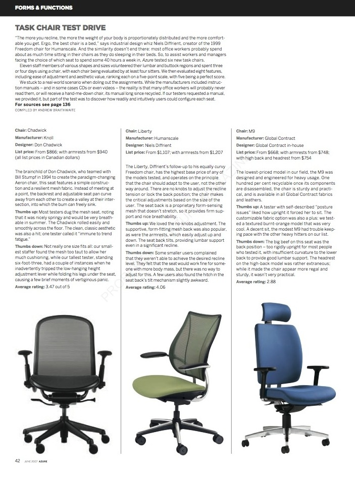 Task Chair Test Drive  //  Azure  //  2007  //  pdf