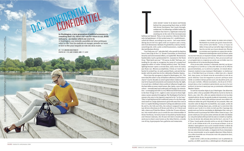 D.C. Confidential // enRoute // 2012 // pdf  (National Magazine Awards nominee)