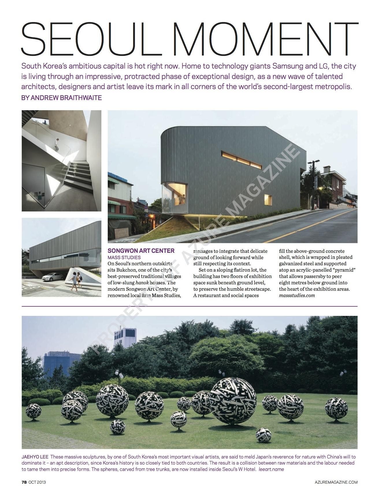 Seoul Moment // Azure // 2013 // pdf