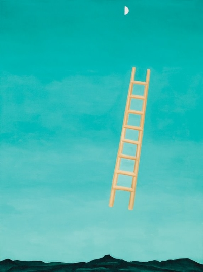 Ladder to the Moon,  1958 by Georgia O'Keeffe