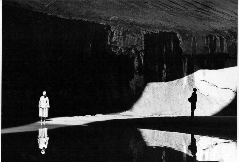 Georgia O'Keeffe and Eastborn Smith in Twilight Canyon, Lake Powell, 1964 by Todd Webb.