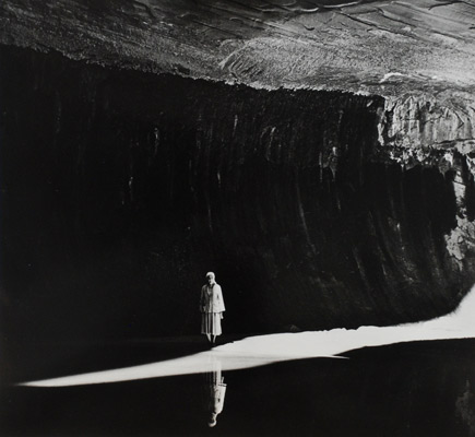 Georgia O'Keeffe in Glen Canyon  by Todd Webb