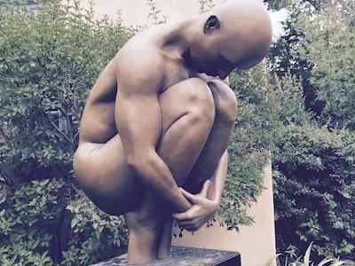 Sculpture in Santa Fe, New Mexico.