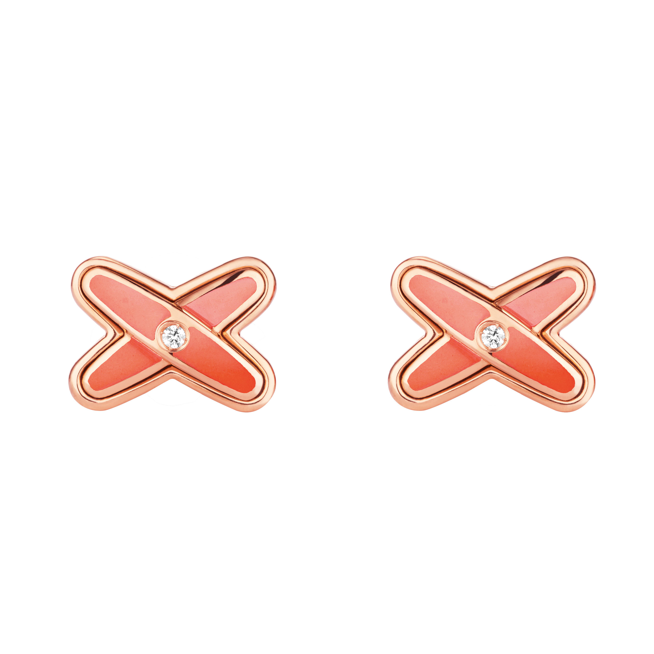 083463 Jeux de Liens Studs Earrings PG Vibrant Orange Lacquer 2.jpg