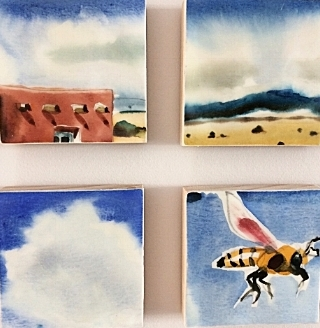 """Encaustic   is a Greek word meaning """"to heat or burn in"""" (enkaustikos). Heat is used throughout the process, from melting the beeswax and varnish to fuse the layers of wax.   Encaustic   consists of natural bees wax and dammar resin (crystallized tree sap)."""