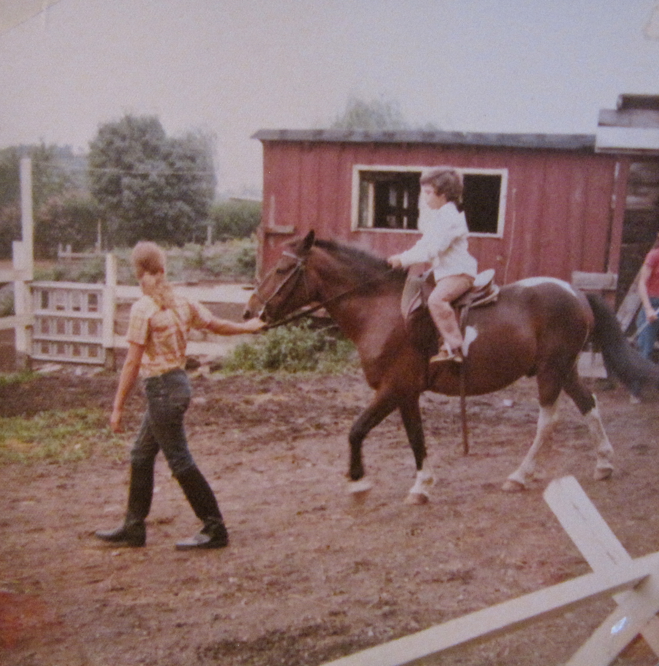 Riding my first favorite horse, Buddy, back in the 1970's at horse camp. To this day, one of my happiest memories.