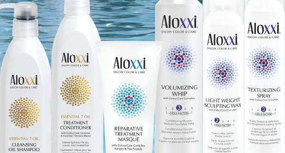 Aloxxi  Aloxxi products are made from the most advanced technology available, preserving hair color and ensuring the health and integrity of your hair. Aloxxi features a botanical base which nourishes the hair, delivering superior grey coverage and consistent, rich, long-lasting color. Aloxxi hair products are free of sulfates, parabens and sodium chloride and feature a nutrient rich blend of 10 premier anti-oxidants. All products are also PETA Friendly and Kosher to ensure the highest quality in hair color and care.