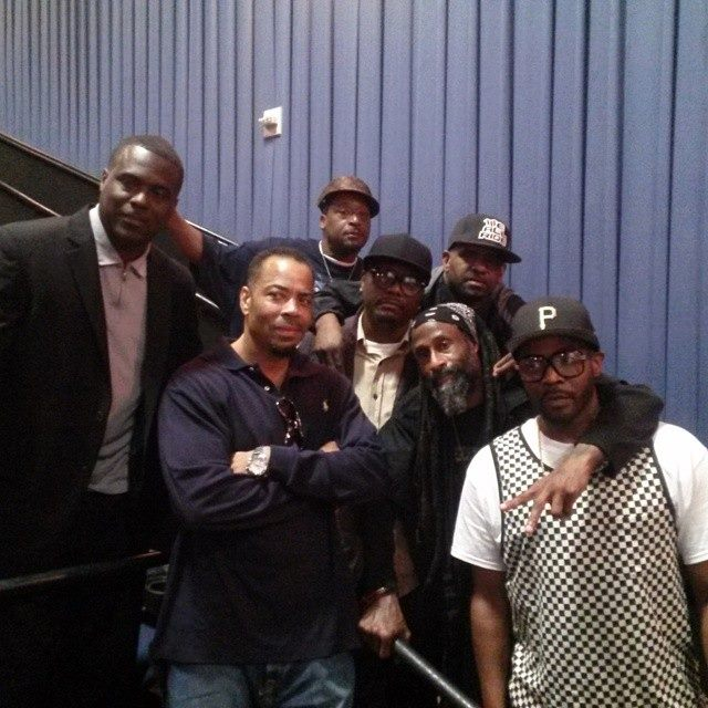 This photo is Timeless pictured in it is Dr. Rock of the Fila Fresh Crew, The D.O.C., AC, Erotic D, EarthQuake, EZ Eddie D KNON 89.3FM, & PiKaHsSo photographer unknown