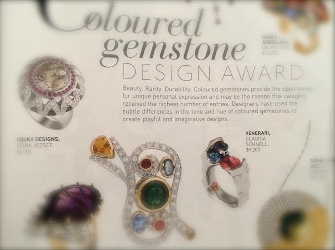 2010 JAA Jewellery Awards - True Gems Finalist, designed for Venerari