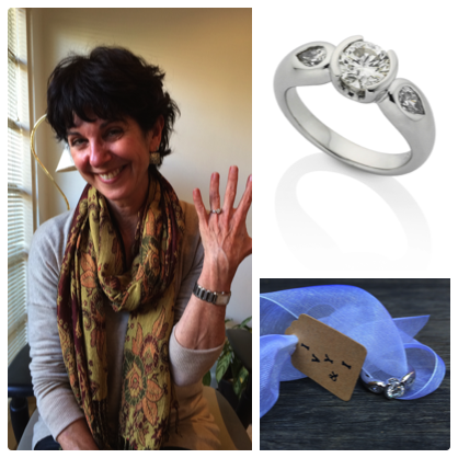 """""""I love my ring!!! It's exactly what I wanted - Claudi was able to get a sense of my personality and my wishes, and came up with a stunning result.She has been lovely to work with, very warm, patient and responsive. I would thoroughly recommend Ivy and I"""".  TAMAR"""