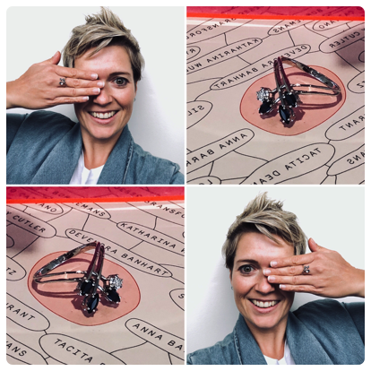 """""""Is this my ring?? Oh my goodness. From an old broken memento to a brand new looking piece! Claudi, you are amazing at what you do. Thank you SO SO much!!""""  CARMEN"""