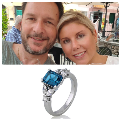 """Ivy & I is an experience; not a transaction and that experience is happy and memorable with Claudi's expertise and kindness. We found Claudi online by searching for a bespoke jeweller for a quote. We sent three online requests: Claudi responded immediately (even though it was late at night a week before Christmas!); another jeweller responded the following day sounding """"put out"""" that we would actually use the online request form…; the third jeweller responded a few days later trying to deter us from using the stone we wanted and recommending a different (more expensive) stone in a similar colour. Claudi's prompt turnaround with a quote and her desire to at least source the stone before Christmas """"so you have something to put under the tree if this is a Christmas treat"""" instantly elevated her beyond the others. Through the design process, Claudi was a step ahead anticipating our questions before we asked them and committed to producing a beautiful ring that we wanted. The end result was exceptional! The craftsmanship and attention to detail exceeded our expectations. We look forward to our next experience with Claudi; wedding rings!  ANGELA AND PETER"""