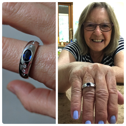 Claudi, transforming my mother's sapphire ring into something beautiful and amazing that I will treasure and wear with pride was all down to your inspiration and great talent. Thank you again  JENNY
