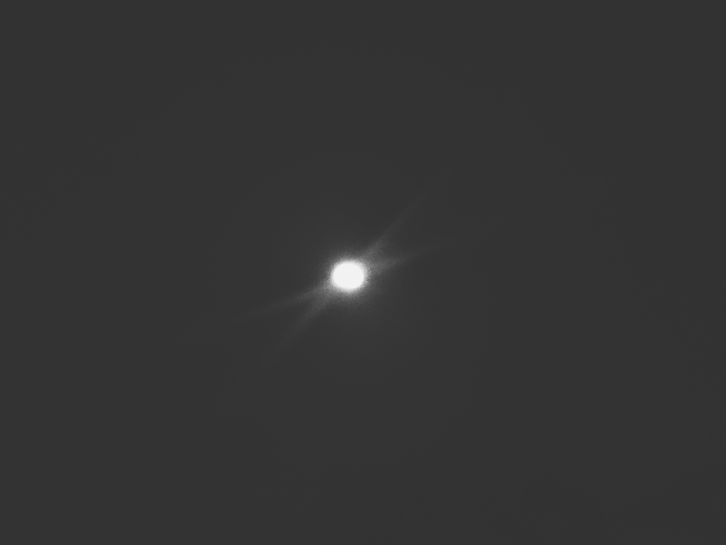 My crap photo of the Blue Moon that I insist on publishing to prove to myself that I'm not scared of future full moons.