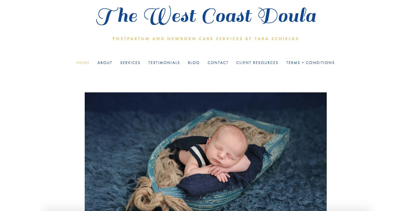 The West Coast Doula Website