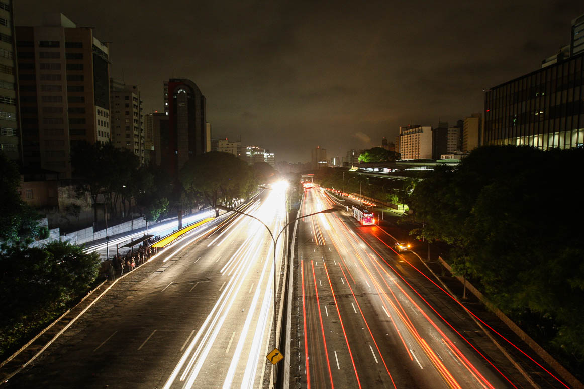 10 de novembro de 2009, o dia em que mais da metade do país se apagou.  São Paulo, avenida 23 de maio