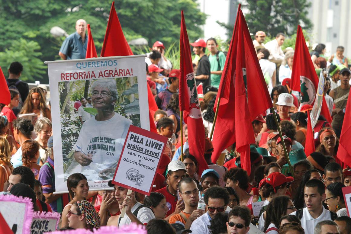 São Paulo, 08/03/2005, manifestação na paulista pela morte de Dorothy Stang