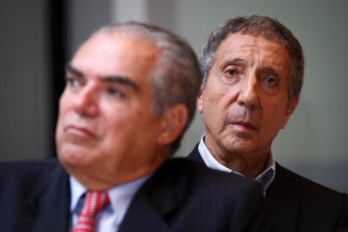 São Paulo, 04/12/2009, compra das casas Bahia pelo Grupo Pão de Açucar.  Michel Klein e Abílio Diniiz