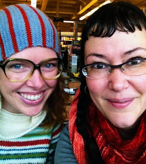Lee and I having coffee in January in Portland, OR!