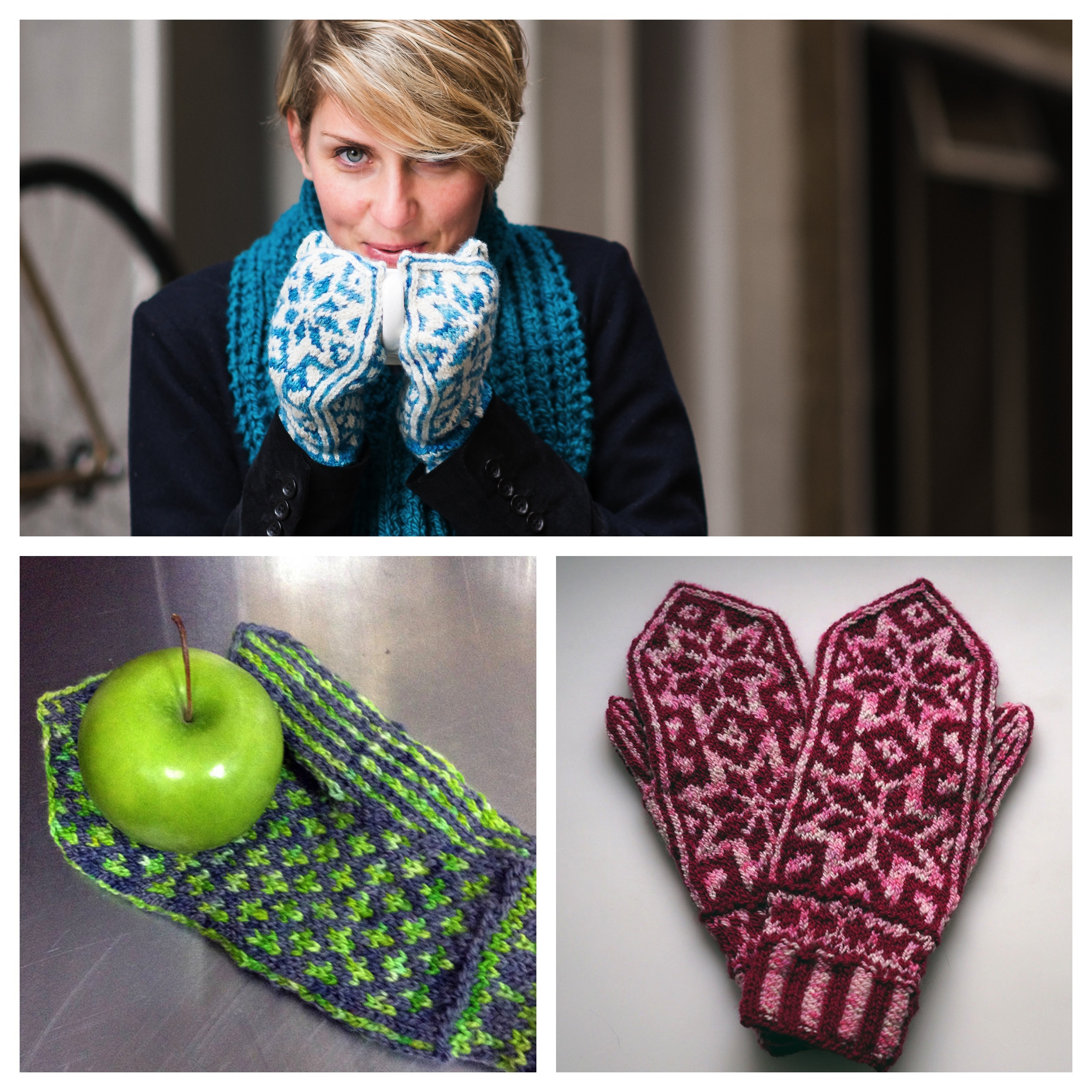 Snowflower Mittens by Cate Carter-Evans and Caitlin Shrigley