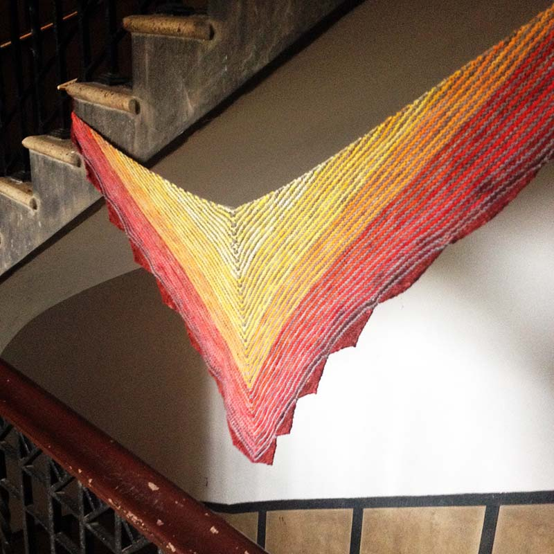 carousel scarf by cate carter-evans of infinite twist