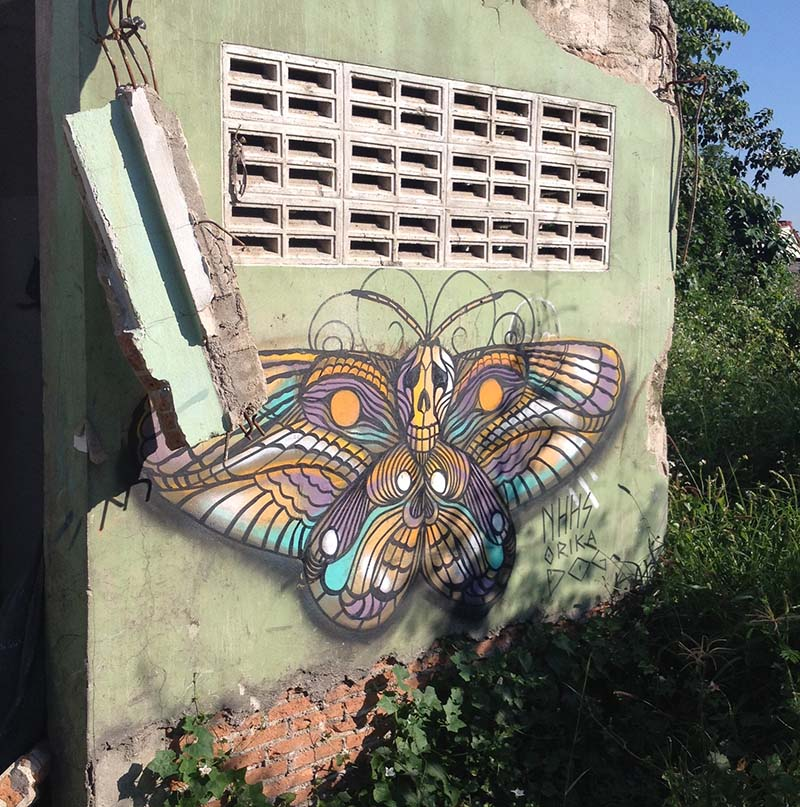 Street art near the university, chiangmai